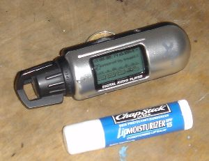 Wave-X Digital TS-300 MP3 Player (and a tube of Chapstick for reference)