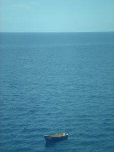 Drifting boat off Puerto Rico