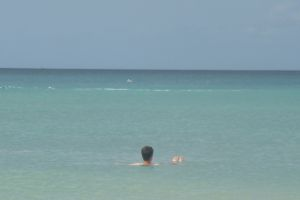 Me backfloating in Grand Anse