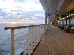 Sunrise on promenade deck