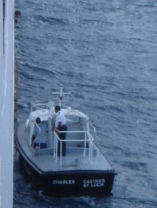 The local pilot boards off St. Lucia